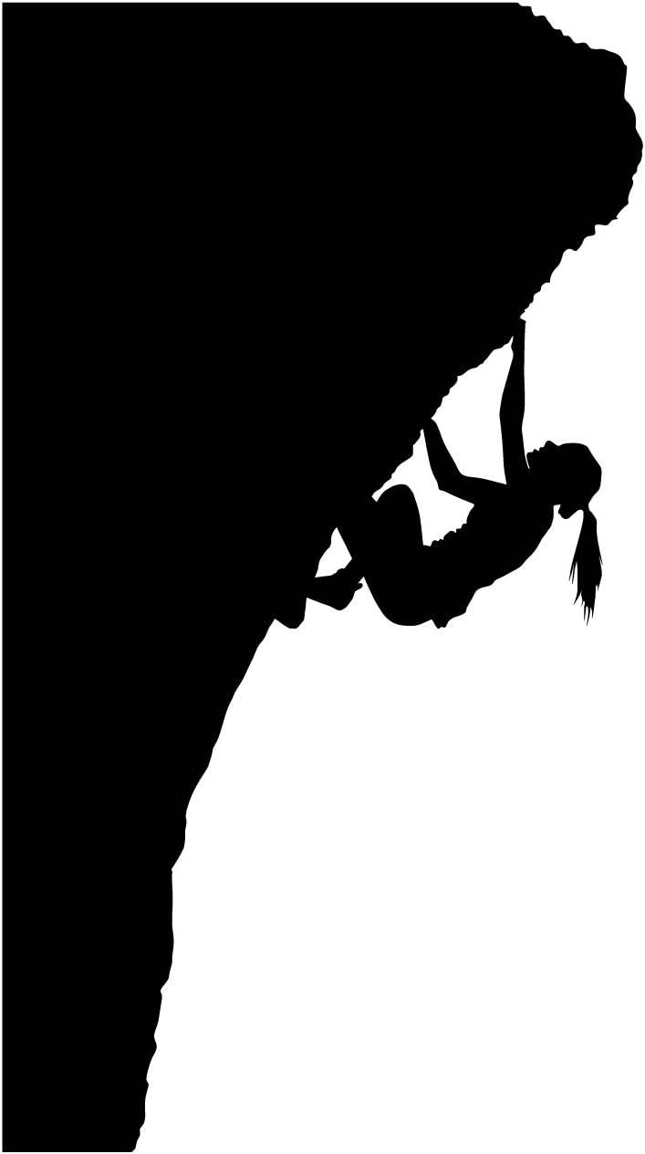Rock Climbing Wall Decal Sticker 12 - Decal Stickers and Mural for Kids Boys Girls Room and Bedroom. Mountain Climbing Climber Wall Art for Home Decor and Decoration - Rock Climber Silhouette Mural