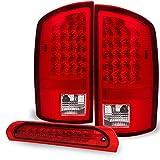 06 ram led 3rd brake light - Red Clear 02-06 Ram 1500 03-06 Ram 2500 3500 Truck LED Tail Lights + 3rd Brake Lights Cargo Lamps