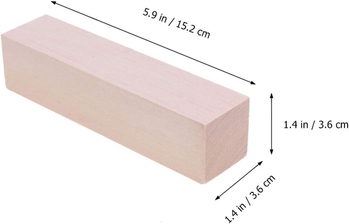 HEALLILY unvollendete Holzbl/öcke Rechteck Holzw/ürfel Linde Holz Handwerk f/ür DIY Carving Material