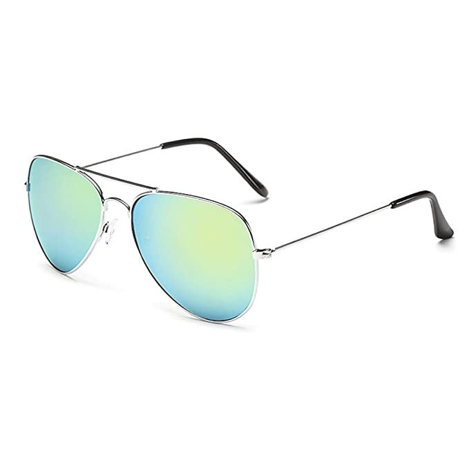 Premium Set, Pilotenbrille Verspiegelt Fliegerbrille Sonnenbrille Pornobrille Brille mit Federscharnier (70