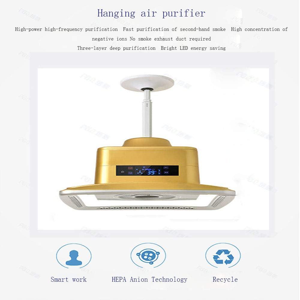 SANKE Purificador de Aire de la lámpara Pendiente de la lámpara, LED Luz Fumadores Fumar Humo Música Bluetooth lámpara de Techo Adecuado para Habitación Sala Hotel Club (84W): Amazon.es: Hogar