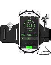 Bovon armband-DS045 - Brazalete Deportivo 180° Rotación Universal con Soporte de llave para iPhone X XS Max XR 8 7 Plus 6S, Samsung S9 Plus Note 9 y Menos de 6.2