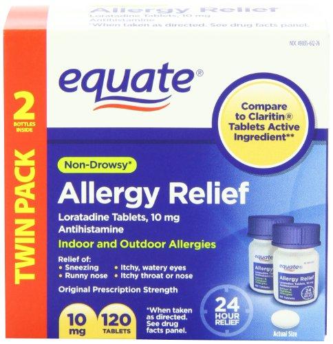 Equate Allergy Loratadine Tablets Claritin