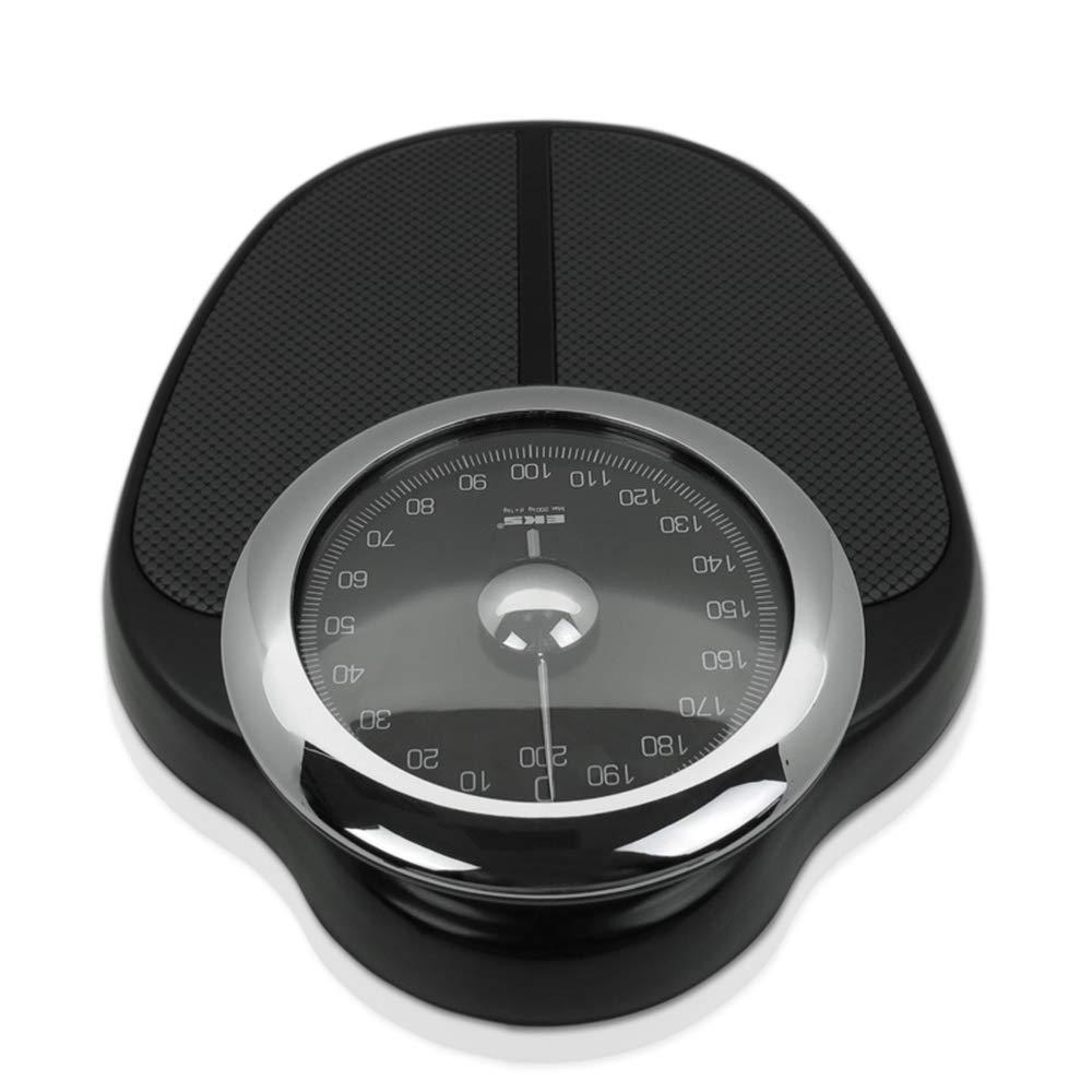 schwarz Fitnessstudio Body Composition Analyser f/ür Privathaushalte Mechanical Scale Mechanische Waage-Personenwaage mit gro/ßem Zifferblatt-analoge Retro- K/örperwaage hohe Kapazit/ät 200 kg