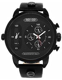 SO & CO New York 5230.2 Men's Analog Black Wrist Watch