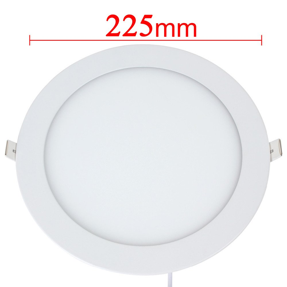 10-Pack Brillihood 1440lm Cool White 110W Incandescent Equivalent Office 6000K Home Commercial Lighting Brillhood 18W 8-inch Ultra-thin Round LED Recessed Ceiling Panel Down Light Lamp with Driver