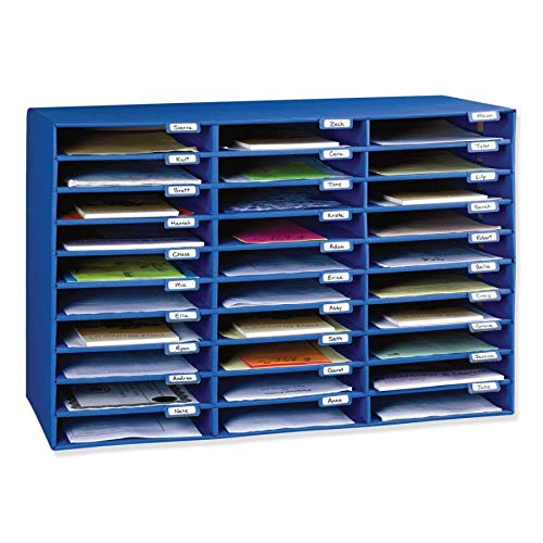 Classroom Keepers 30-Slot Mailbox, Blue (001318)]()