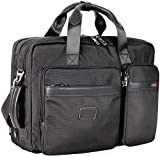 LEHANZ Laptop Bag Expandable Large Capacity Laptop Messenger 17 Inch Backpack Convertible Shoulder Bag Shockproof Professional Office Business Travel Briefcase for Men Women, Black