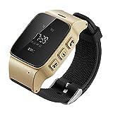 Elderly Kids GPS Tracker Smart Watch SOS Function Wristwatch LBS Wifi Safety Anti-Lost Locator Watch Golden