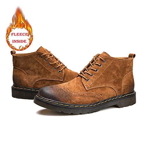 Mode À Polaire Brown L'intérieur Casual La Brogue Botte Hommes classique Yajie Option Britannique Warm Style boots Loisirs Faux En Chaussures Pour Hiver Haut De 8EwqAfIf