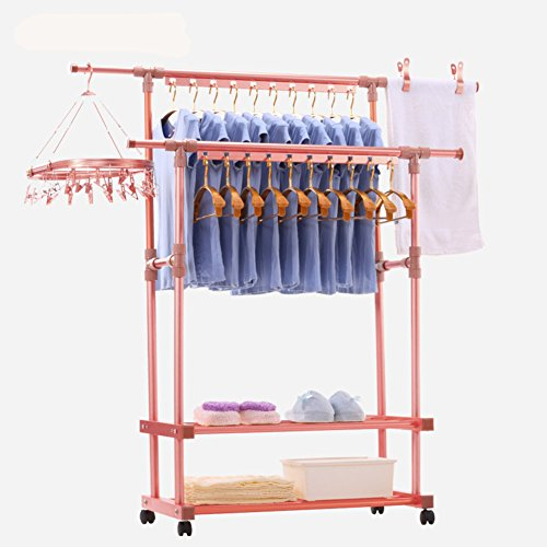 lililili Aluminum alloy Clothing garment rack, Heavy duty co