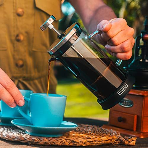 NERTHUS FIH 662 French press coffee maker 350 ml, 7,8 x 7,8 x 16,5 cm
