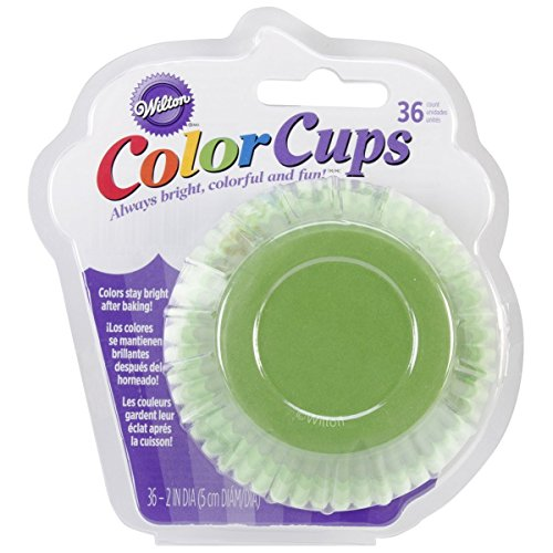 New Wilton Cupcake Liners - Wilton ColorCup Standard Baking Cups, 36-Pack, Green Ombre