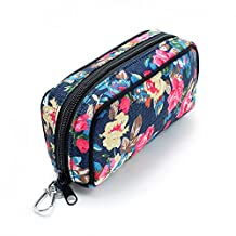 10-Bottle Essential Oils Travel Bag, Essential Oil Carrying Cases hold 5ml, 10ml and 15ml bottle (Peony)