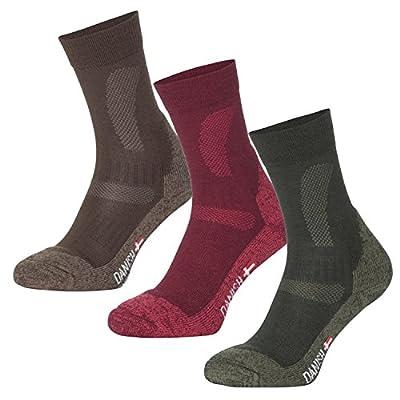Merino Wool Hiking & Trekking Socks by DANISH ENDURANCE for Men and Women // 1 PAIR