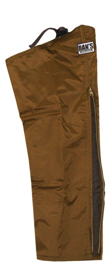 High-N-Dry Briarproof, and Waterproof Protector Chaps, Made in U.S.A. (Brown, Thigh S-24/Inseam 34)