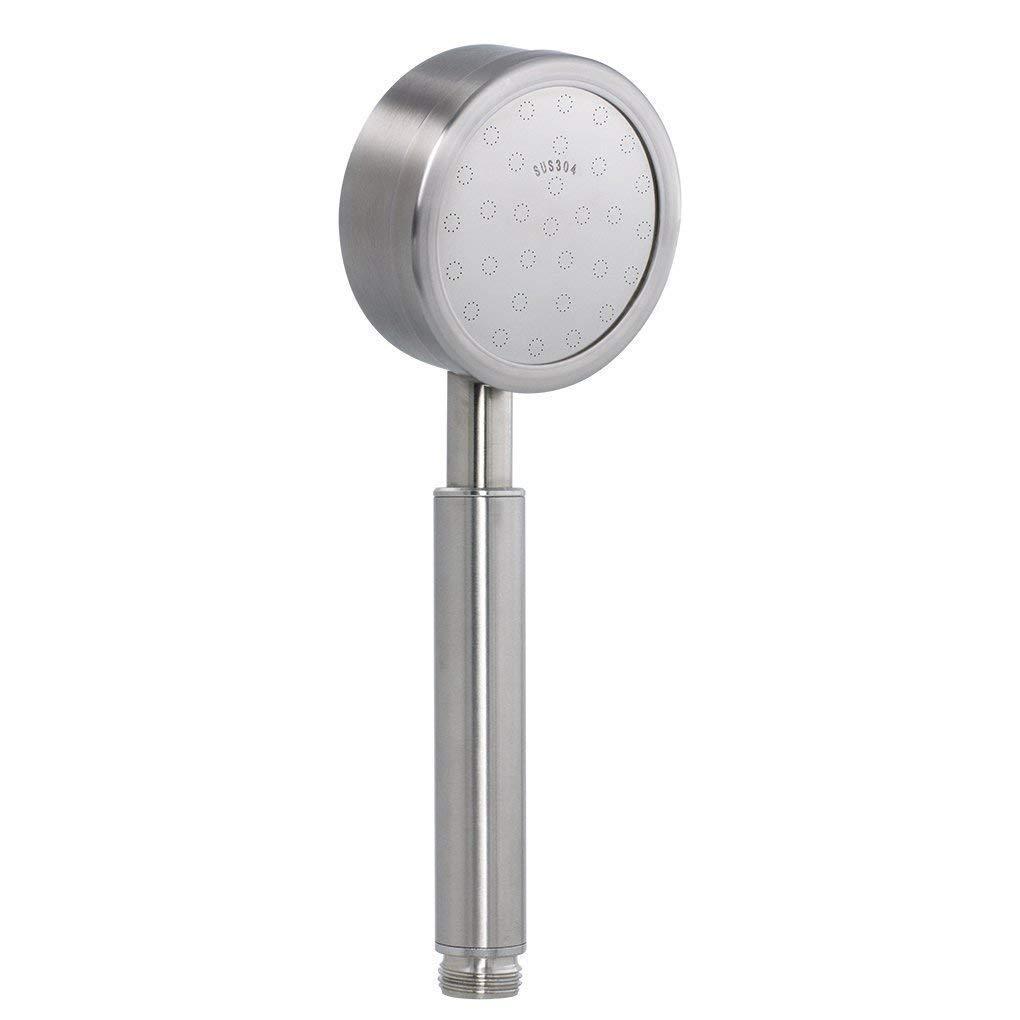 Derpras - Soffione per doccia in acciaio inox 304, a risparmio energetico, finitura in nichel spazzolato