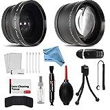 52mm Wide Angle and Telephoto Conversion Lens Accessories Kit for Nikon D3100, D3200, D3300, D5000, D5100, D5200, D5300, D5500, D7000, D7100, D7200, D90, D300, D500, D600, D610, D700, D750, D800, D810