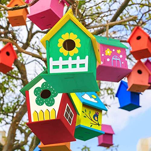 Koogel Bird House Kit, 3PCS DIY BirdHouses Bird Houses to Paint Unfinished Birdhouses to Paint for Children Creation DIY