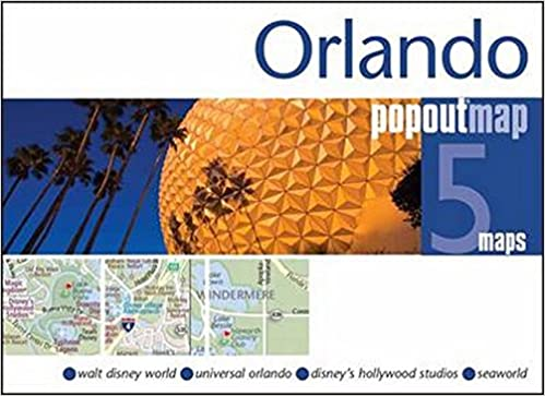Orlando PopOut Map Double: Handy Pocket Size Pop Up Map of Orlando on