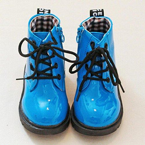 Hunpta Kinder Mode Jungen Mädchen Martin Sneaker Winter Dick Schnee Baby Casual Schuhe Blau