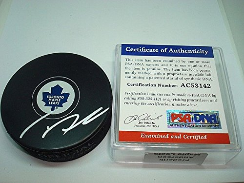 Frederik Andersen Signed Toronto Maple Leafs Hockey Puck - PSA/DNA Authenticated