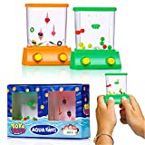 Toys : Handheld Water Game By YoYa Toys: A 2 Pack Set Of A Fish Ring Toss And A Basketball Aqua Arcade Toy In 2 Different Colors – Compact Mini Retro Pastime For Kids And Adults In A Gift Box