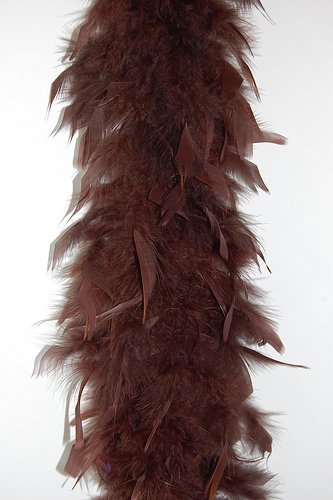 Cynthia's Feathers 65g Chandelle Feather Boas Over 80 Colors & Patterns to Pick Up (Chocolate Brown) -
