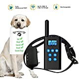 IOKUKI Dog Training Collar with Remote 1000 ft Range,[2018 Upgraded] Rechargeable Waterproof Bark Collar with Beep Vibration Shock,Electric Collar Shock Collar for Small Medium Large Dogs (1 Dog)
