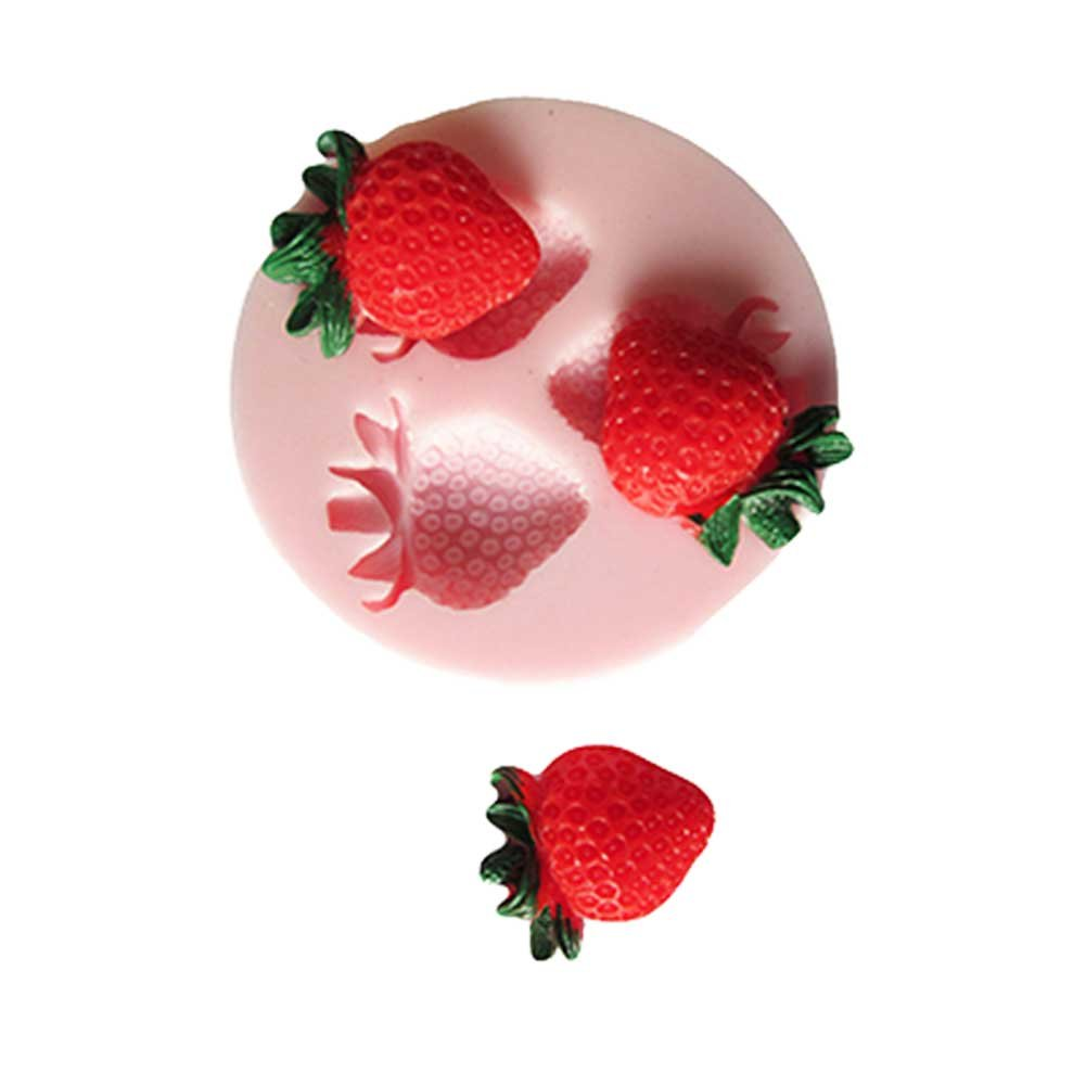 Mini Fruit Strawberry Fondant Mold Silicon Cake Pop Mold Cupcake Decoration Sugar Paste Cookies Cake Topper Baking Tools Set