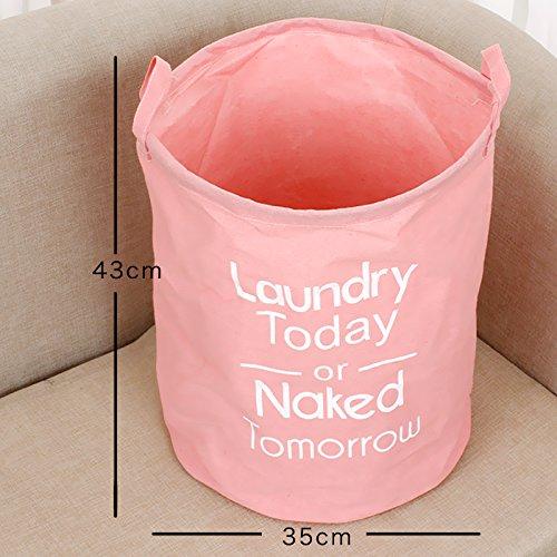 Luckyfree Panier à linge en coton d'vêtements sales jouets Panier Panier de rangement, snack-Débris Orange 35 * 43cm
