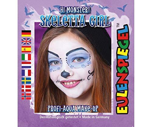 Set of Paint Colors for Face - Skeleton Woman, Eulenspiegel, EU 204764