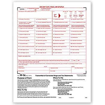 Amazon Egp W3 C Wage Correction Form For Laser Printer Tax