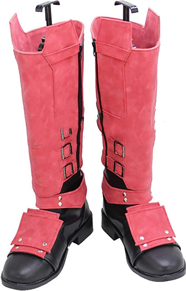 Deadpool Wade Wilson X Weapon Red Black Cosplay Boots Shoes Free Shipping