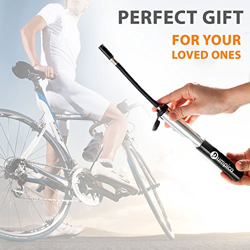 PUMPICO Bike Pump - Mini Bike Pump - Bicycle Pump - Presta And Schrader Valve Pump - Functional and Sturdy Aluminum Alloy Body and Ergonomical Handle with Smarthead Nozzle – Pressure Up to 140 PSI by PUMPICO (Image #5)