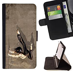 DEVIL CASE - FOR Sony Xperia Z1 Compact D5503 - Kung Fu Guy - Style PU Leather Case Wallet Flip Stand Flap Closure Cover