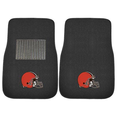 FANMATS 10298 2 Piece Embroidered Car Mat Set NFL (Cleveland Browns) Cleveland Browns 2 Piece Car