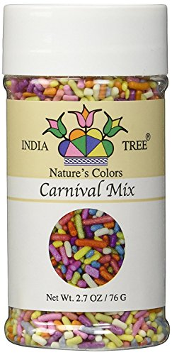 India Tree Jimmies - Carnival Mix - Natural Colour 2.7oz (Dye Glitter)