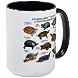 CafePress - Freshwater Turtle Of North America Large Mug - Coffee Mug, Large 15 oz. White Coffee Cup