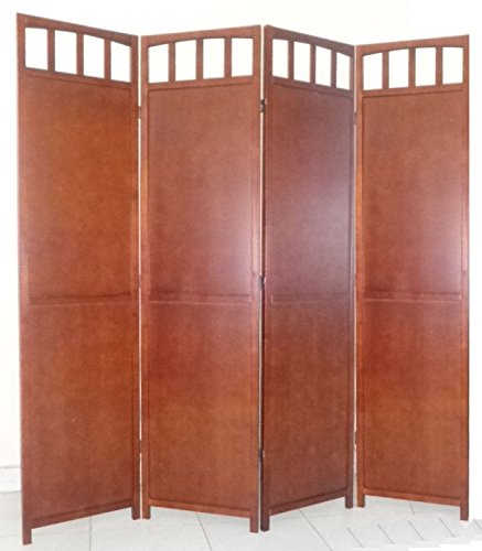 Legacy Decor 4-panel Screen Room Divider Solid Wood