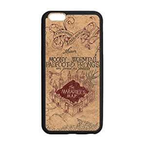 Harry Potter Marauders Map Custom Durable Hard Cover Case for iPhone 6 - 4.7 inches case - Black Case