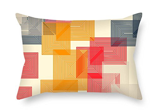 Log Style Futon - Pillow Covers Of Geometry For Play Room Home Office Coffee House Him Boys Pub 12 X 20 Inches / 30 By 50 Cm(each Side)