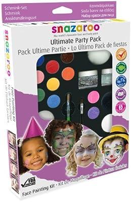 Ultimate Party Pack Snazaroo Makeup Kit Face Paint Fancy Dress Halloween (Maquillaje/ Pintura de Cara): Amazon.es: Juguetes y juegos