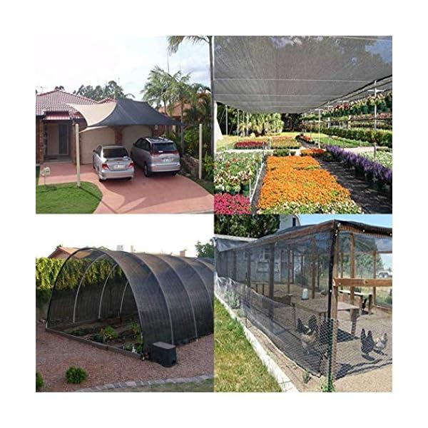 MRZHW Piante Reti per frangisole Tasso di ombreggiatura al 95% Anti UV di Lunga Durata Reti solari per Piante per… 6 spesavip