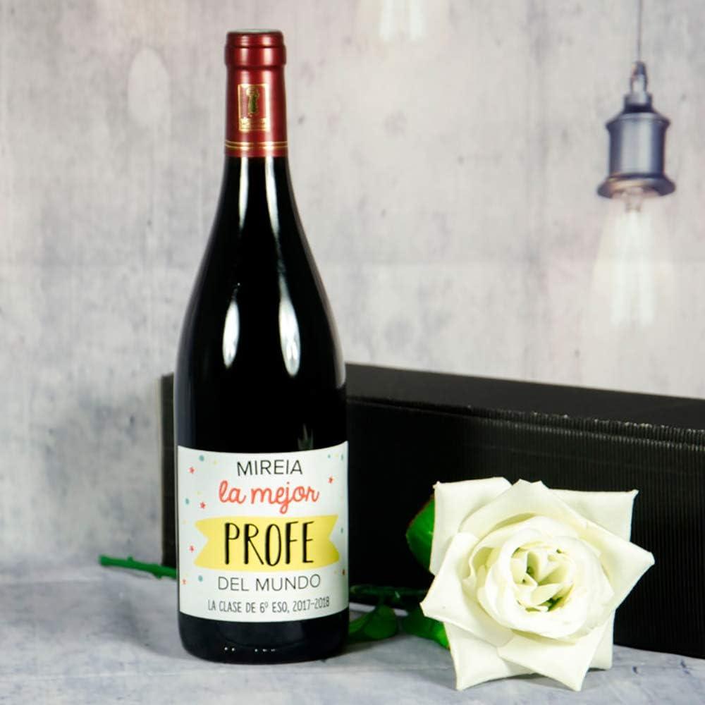 Calledelregalo Regalo Personalizado para Profesores y profesoras: Botella de Vino para el/la Mejor profe Personalizable con Nombre y dedicatoria (Botella Mejor profe): Amazon.es: Hogar