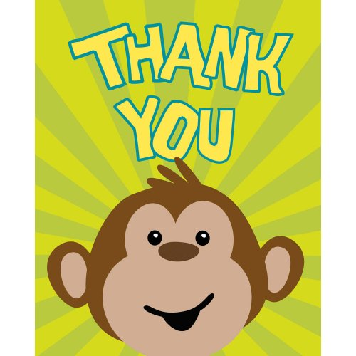 Monkeyin' Around Thank You Notes ()