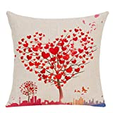 Weiliru Pink Love Throw Pillow Covers Cases Decorative Outdoor for Couch Sofa Home Decor Accent Cushion Square,Lover's Theme