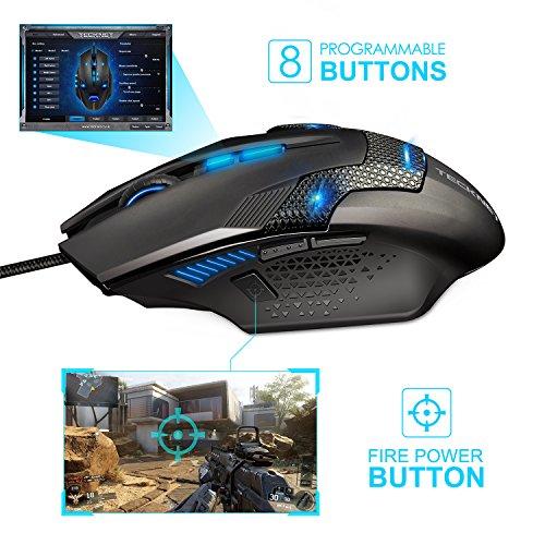 51M PP61tdL - TeckNet-RAPTOR-Pro-Gaming-Mouse