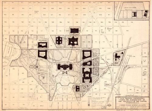 1967 Map showing properties under the jurisdiction of the Architect of the Capitol, Washington, D.C.