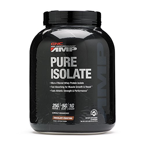 Gnc Protein Whey (GNC Pro Performance AMP Pure Isolate Protein - Chocolate Frosting 5.32)
